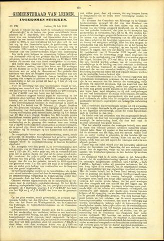 Handelingen van de Raad 1920-07-29