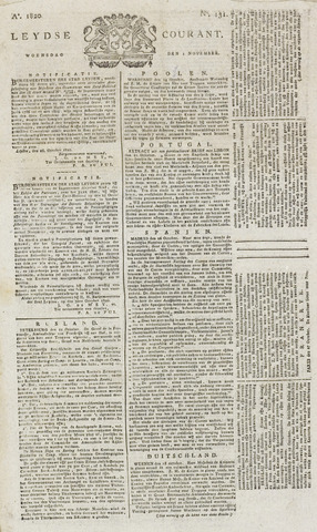 Leydse Courant 1820-11-01