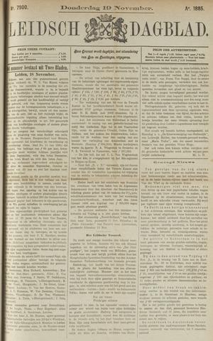Leidsch Dagblad 1885-11-19