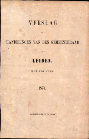 Handelingen van de Raad 1874-01-01