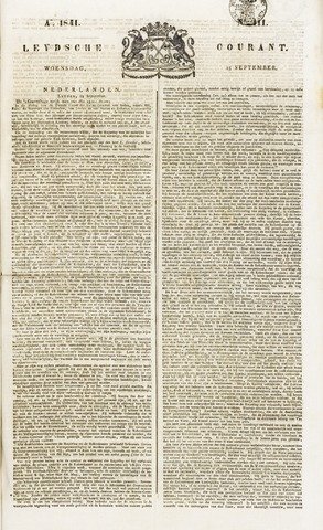 Leydse Courant 1841-09-15
