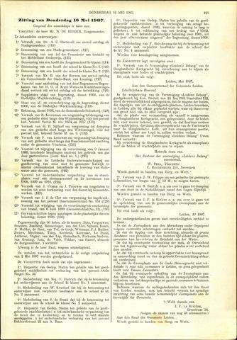 Handelingen van de Raad 1907-05-16