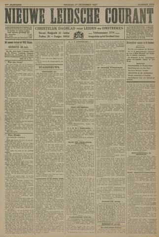 Nieuwe Leidsche Courant 1927-12-27