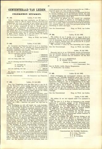 Handelingen van de Raad 1905-07-08