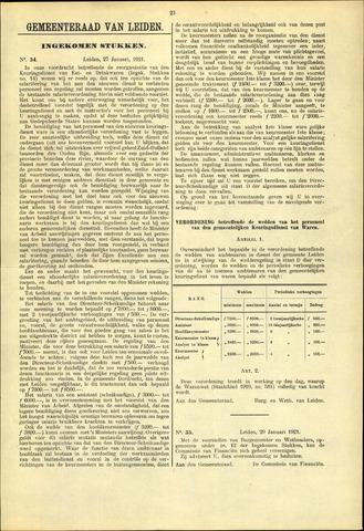 Handelingen van de Raad 1921-01-27