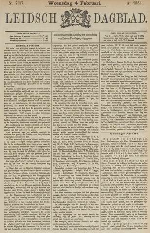 Leidsch Dagblad 1885-02-04