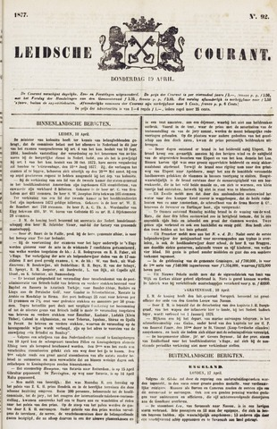 Leydse Courant 1877-04-19