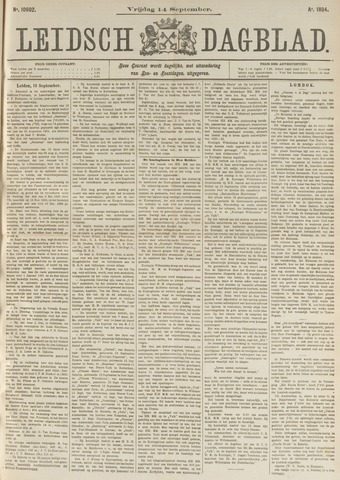 Leidsch Dagblad 1894-09-14