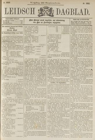 Leidsch Dagblad 1892-09-23