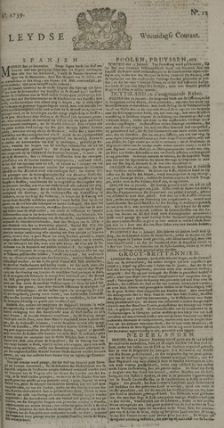 Leydse Courant 1739-01-28