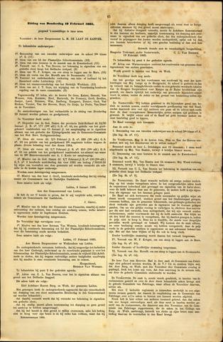 Handelingen van de Raad 1885-02-19