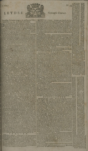 Leydse Courant 1745-03-19