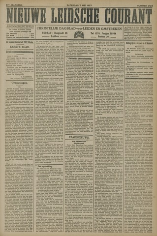 Nieuwe Leidsche Courant 1927-05-07
