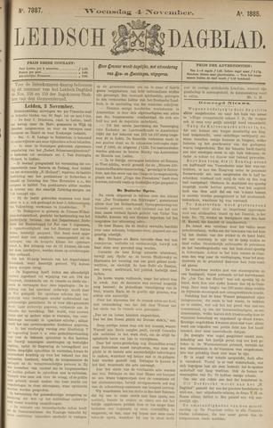 Leidsch Dagblad 1885-11-04