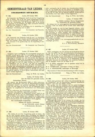 Handelingen van de Raad 1903-10-26