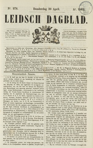 Leidsch Dagblad 1863-04-30