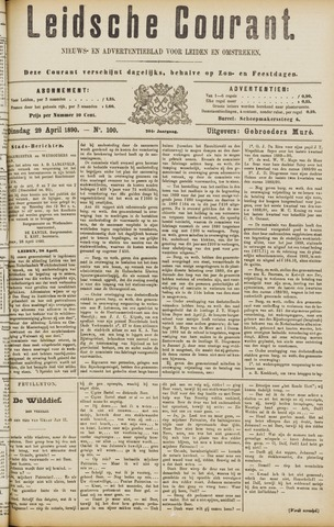 Leydse Courant 1890-04-29