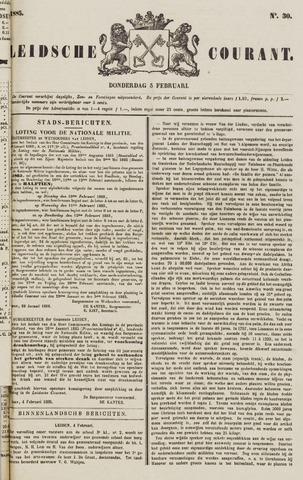 Leydse Courant 1885-02-05