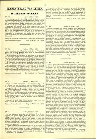 Handelingen van de Raad 1925-03-05
