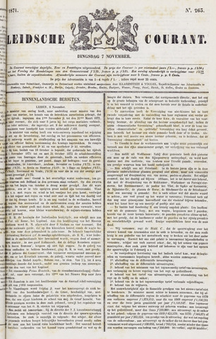 Leydse Courant 1871-11-07