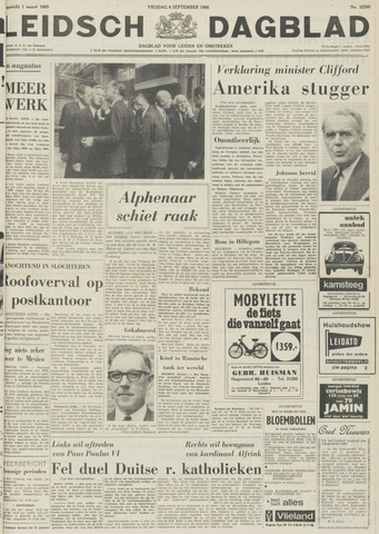 Leidsch Dagblad 1968-09-06