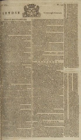 Leydse Courant 1754-11-27