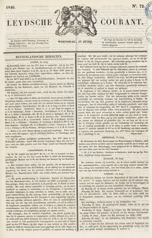 Leydse Courant 1846-06-17