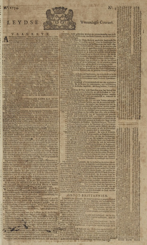 Leydse Courant 1754-01-09