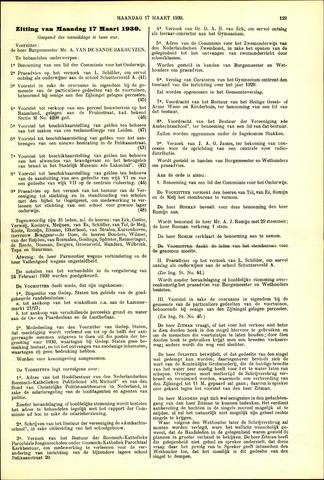 Handelingen van de Raad 1930-03-17