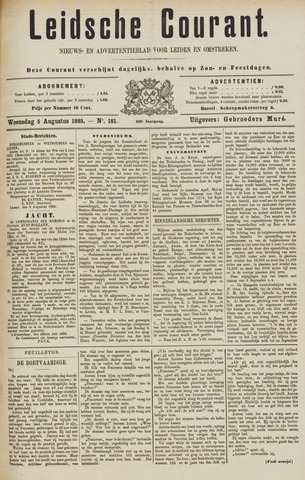 Leydse Courant 1885-08-05