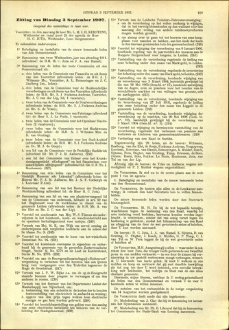 Handelingen van de Raad 1907-09-03