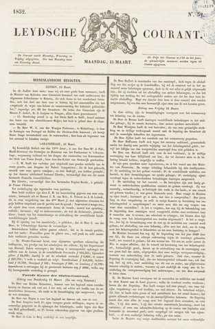 Leydse Courant 1852-03-15
