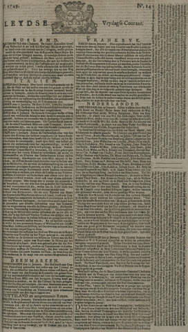 Leydse Courant 1749-01-31