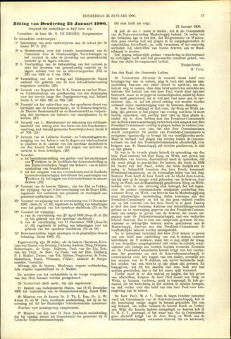 Handelingen van de Raad 1906-01-25