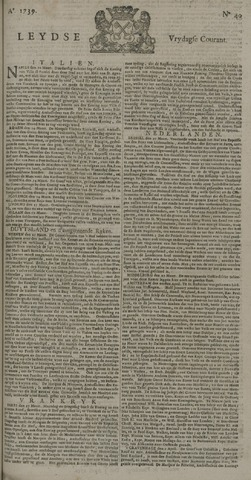 Leydse Courant 1739-04-03