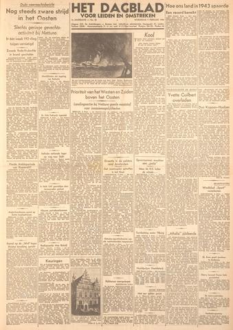 Dagblad voor Leiden en Omstreken 1944-02-09