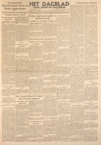 Dagblad voor Leiden en Omstreken 1944-08-31