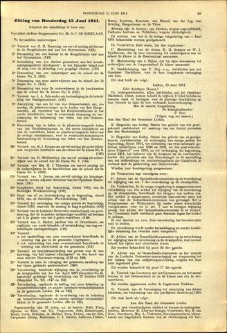 Handelingen van de Raad 1911-06-15