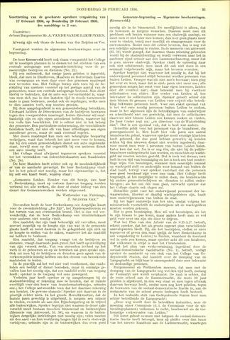 Handelingen van de Raad 1936-02-20