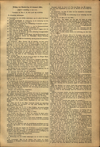 Handelingen van de Raad 1891-01-15