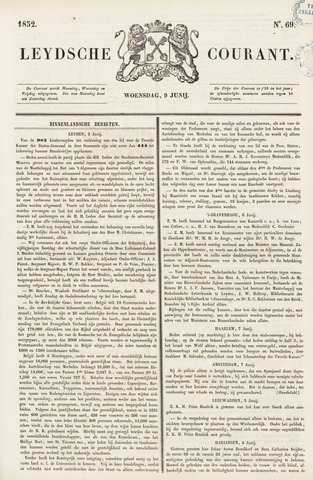 Leydse Courant 1852-06-09