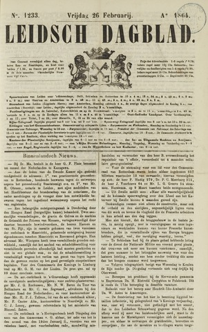 Leidsch Dagblad 1864-02-26