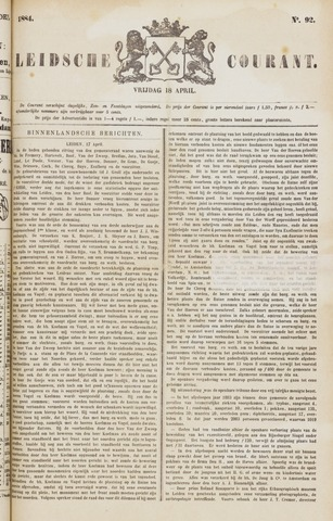 Leydse Courant 1884-04-18