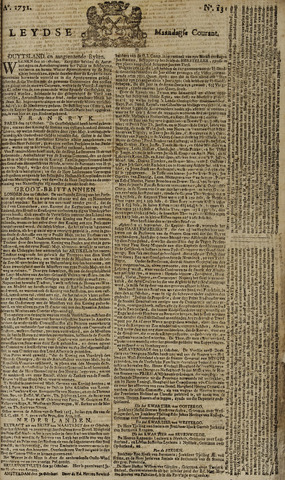 Leydse Courant 1751-11-01