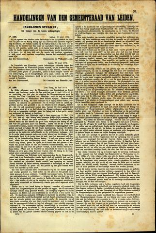 Handelingen van de Raad 1874-06-18