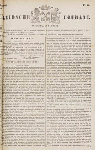 Leydse Courant 1884-02-28