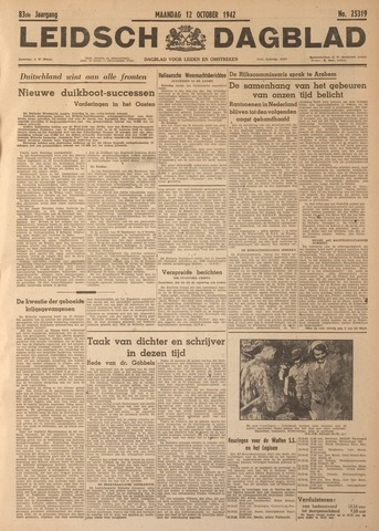Leidsch Dagblad 1942-10-12