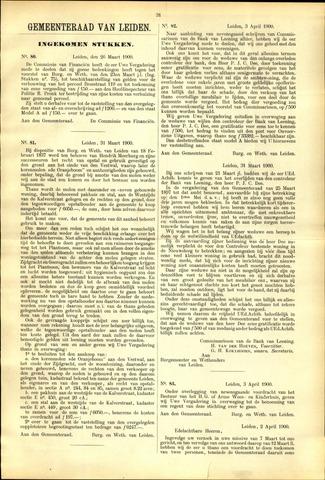 Handelingen van de Raad 1900-03-26