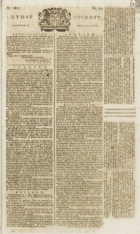 Leydse Courant 1817-08-13
