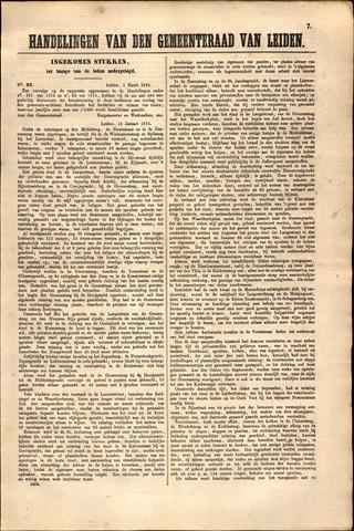 Handelingen van de Raad 1875-03-01